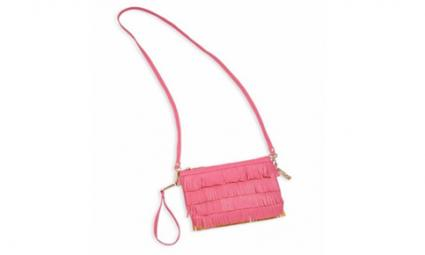 Bari Lynn Small Convertible Fringed Wristlet