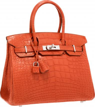 Hermes Matte Sanguine Alligator Birkin Bag