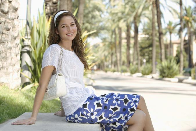 Teenage Girl With Handbag