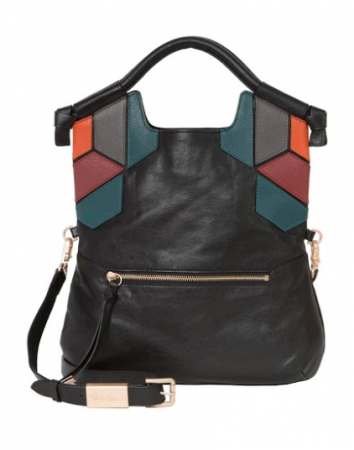 GEO PATCH FC LADY TOTE IN BLACK MULTI