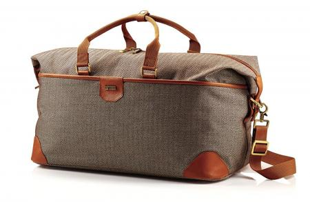 Hartmann Herringbone Luxe Softside Weekend Duffel Bag