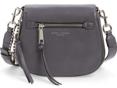 8b217a294bd MARC JACOBS Small Recruit Nomad Pebbled Leather Crossbody Bag