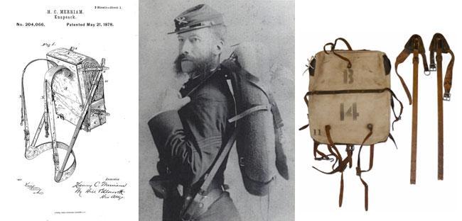 Merriam headshot and knapsack backpack diagram