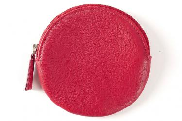 Red round coin purse