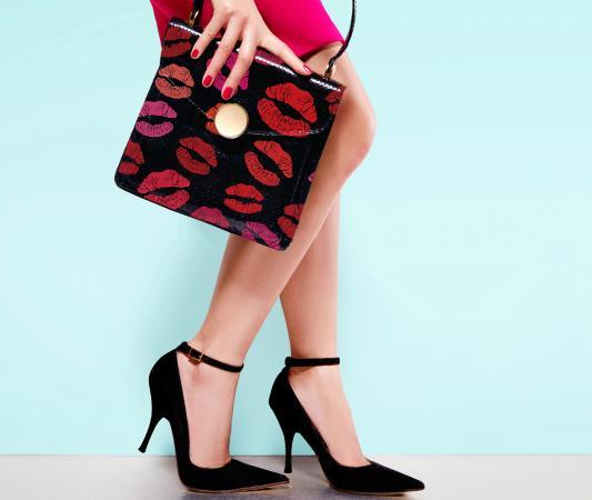 kiss print purse