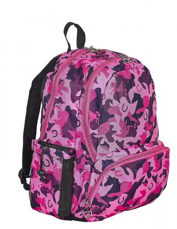 Camo Horses and Horse Shoes Backpack