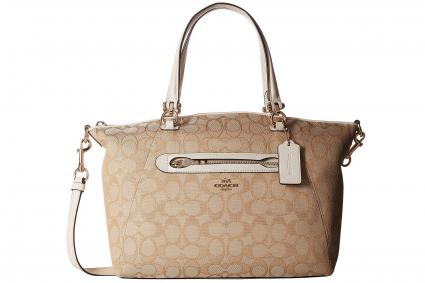 70756d4d59 Signature Shoulder Bag With Monogram Print