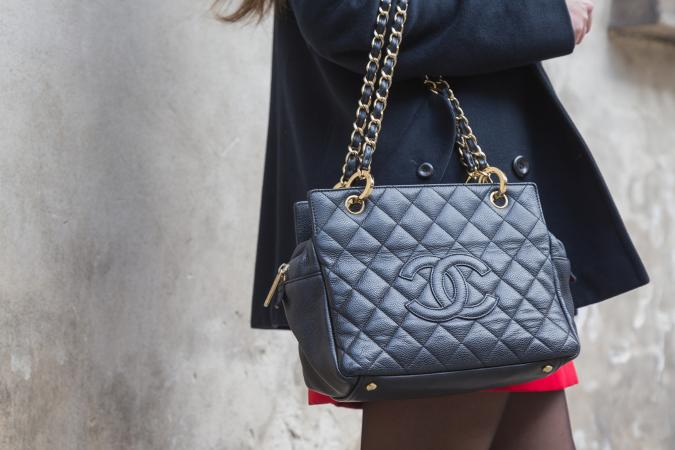 Detail of Chanel bag