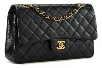 Pre-owned Chanel Black Quilted Lambskin Classic Double Flap Medium 503aaaf413