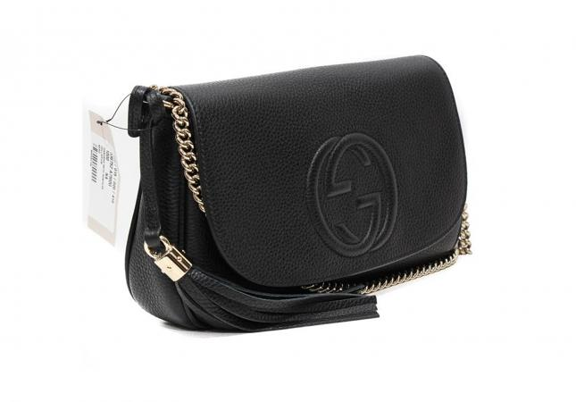 Gucci leather bag with tags