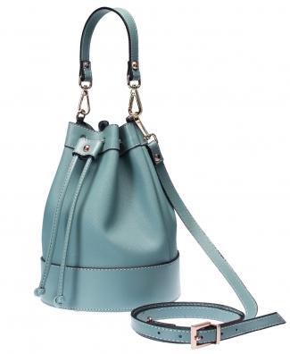 Turquoise bucket handbag