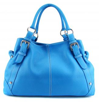 Blue hobo bag