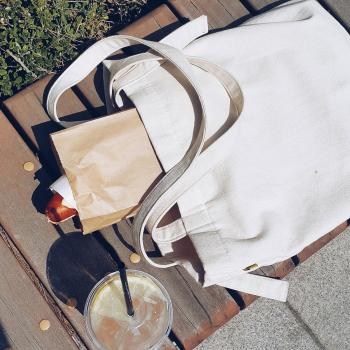 Tote used as a picnic bag