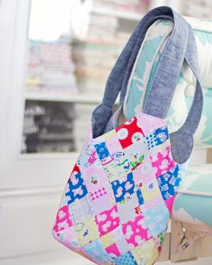 Handmade patchwork tote