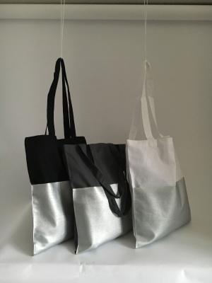 Three modern totes with metallic design