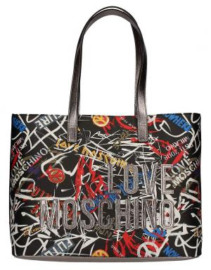 LOVE Moschino Women's Graffittii Print Tote