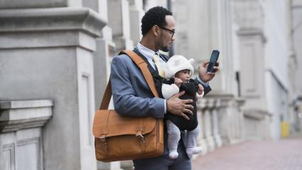 Daddy bag messenger style