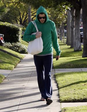Zachary Quinto with canvas tote bag