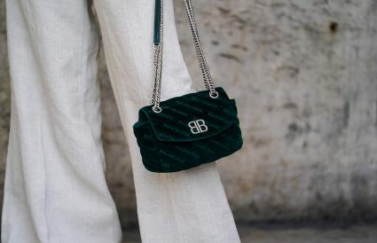 Balenciaga green bag