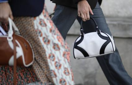 White Prada bag
