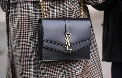 YSL black leather bag
