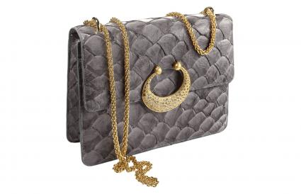 20K Eternity Arapaima Leather Purse with Diamonds