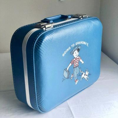Boys Light Blue Going to Grandmas Suitcase