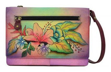 Women's ANNA by Anuschka Hand Painted Organizer Wallet