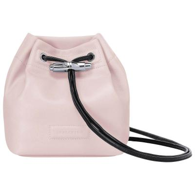 Longchamp Mini Roseau Lambskin Leather Bucket Bag