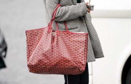 red Goyard monogram large bag