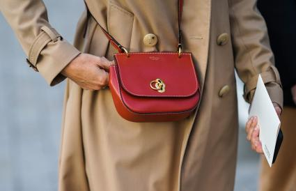 red Mulberry bag