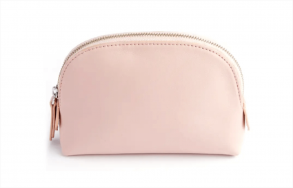 Royce New York Compact Leather Cosmetic Bag
