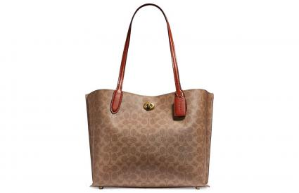 Coach Willow Tote In Signature Canvas