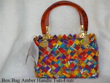 amber handle tuti fruti bag