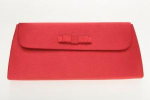Image of a classic red clutch