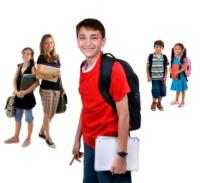 students wearing different backpack styles and trends