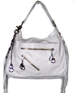 Cuffz by Linz studded white tote