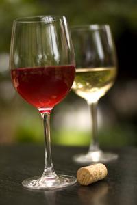 two glasses of wine for a designer wine tote