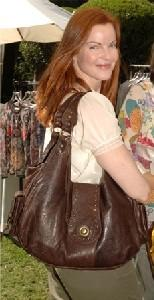 Marcia Cross with Onna Ehrlich bag