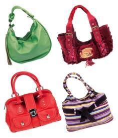 Image of four stylish handbags