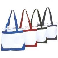 Contrast Canvas Zip Top Totes from Zoom Gear