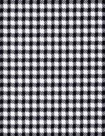 black and white houndstooth print