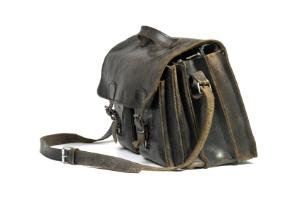 Image of a vintage-style leather bookbag