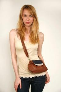 Amykathryn Small Peony Chestnut Purse