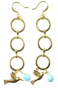 Image of gold, multi-hoop earrings