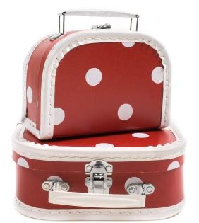 dotted luggage