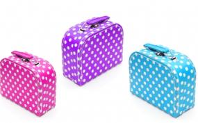 small dotted luggagge