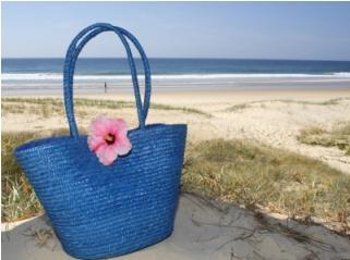 Blue beach back