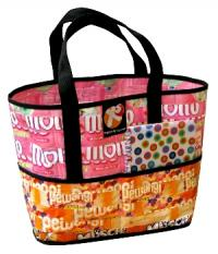 colorful recycled handbag tote