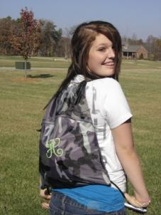 Hailey models Thirty-One Cinch Sac